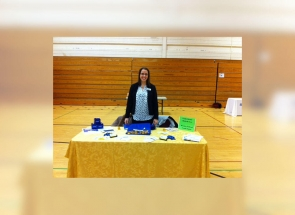 A Westar FCU representative at the West Genesee Middle School Career Fair