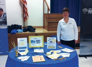 A Westar FCU representative at the Camillus Middle School Career Fair